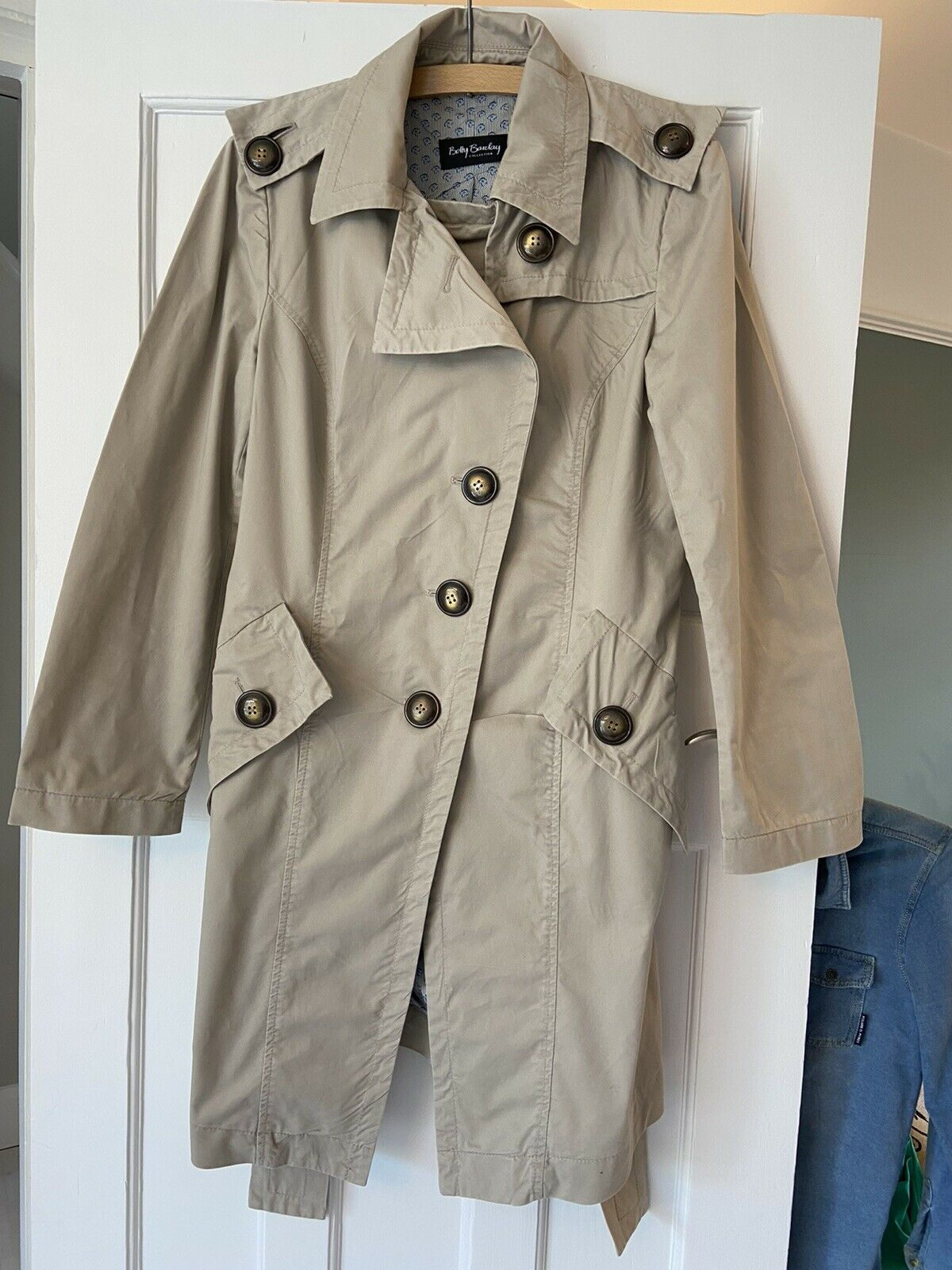 Betty Barclay beige belted mac trench coat Size 10