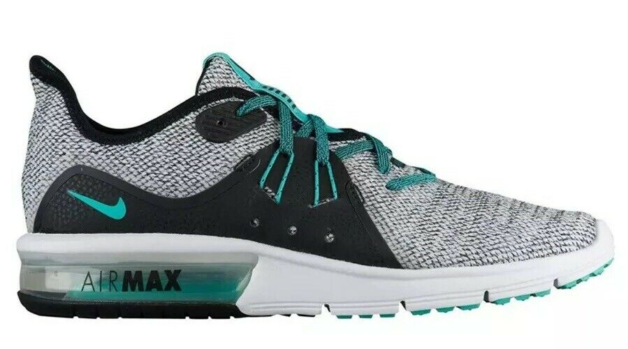 NIKE Air Max Sequent Sequent Sequent 3 908993-100 WHITE HYPER JADE-BLACK. Women's Size 10 NEW c52a3c