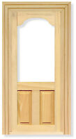12th Scale Wooden Glass Top Door Ideal For Dolls House And Fairy Doors