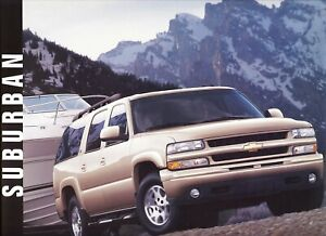 2003 chevrolet suburban ls lt z71 truck dealer sales brochure ebay ebay