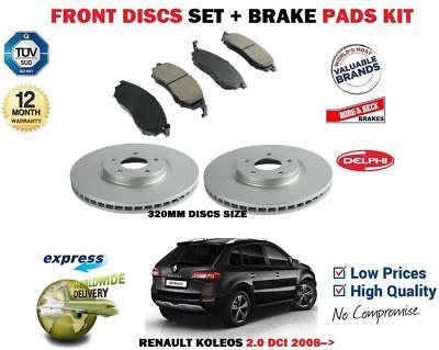Fits Renault Koleos 2.0 dCi Genuine Delphi Front Disc Brake Pads Set