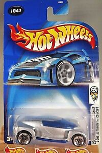 2003-Hot-Wheels-47-First-Editions-2002-AUTONOMY-CONCEPT-Silver-Black-White-Logo