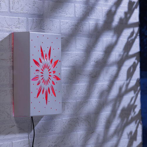 Outdoor-Solar-Wandbild mit roter LED LED Outdoor-Beleuchtung