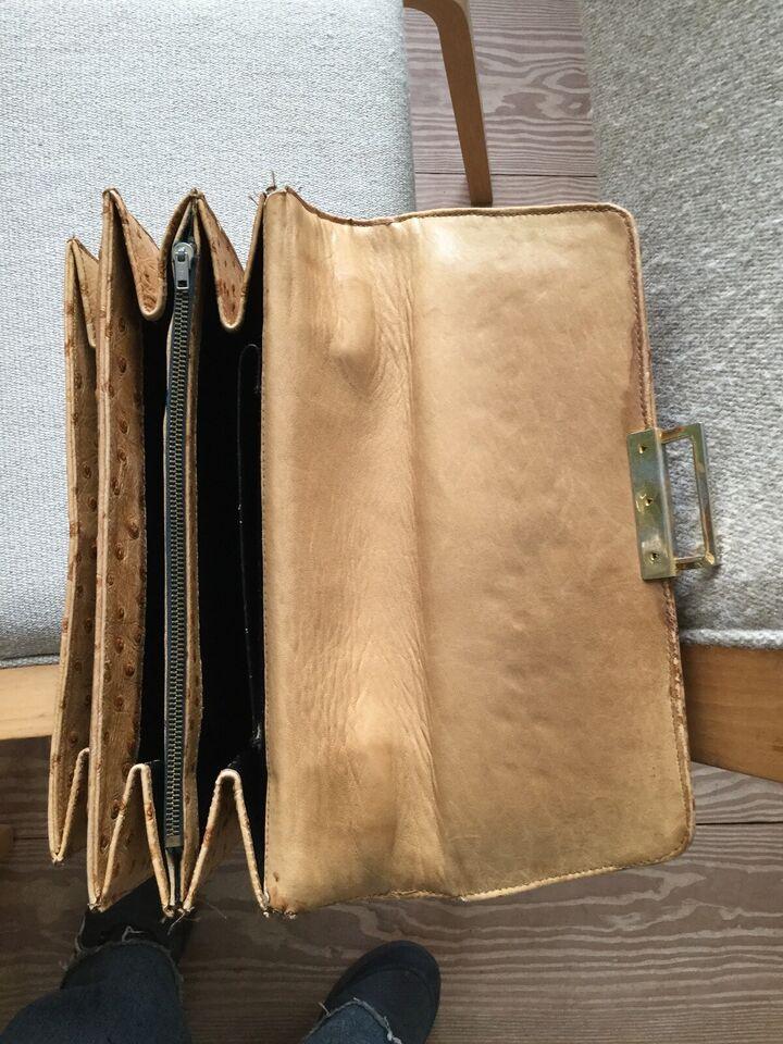 Anden håndtaske, andet mærke, strudseskind