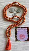 6mm Rudraksh Prayer Beads Hand Knotted Mala Necklace