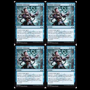 x4 Sinister Sabotage 054//259 uncommon Guilds of Ravnica