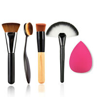 2016 5Pcs/Set Makeup Powder Blush Foundation Brush Sponge Puff Contour Brush New