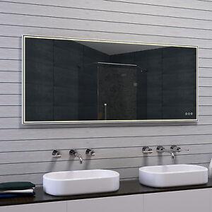 Lux aqua design badspiegel mit rahmen aus geb rstetem aluminium 40 160cm mau ebay - Badspiegel mit rahmen ...