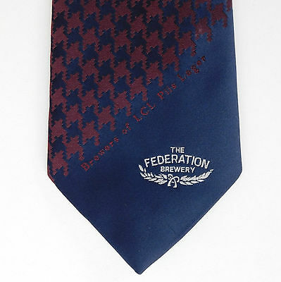 Federation Brewery tie LCL Pils Lager Vintage 1980s Alcohol drinkers Houndstooth