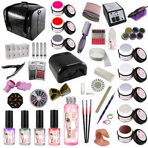 Nagelstudio-Set-UV-Gel-Set-Nagelset-Starterset-Nagelfraeser-Farbgele-Koffer