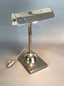 Lampe de Bureau ART DECO en metal Chromé marbre | eBay