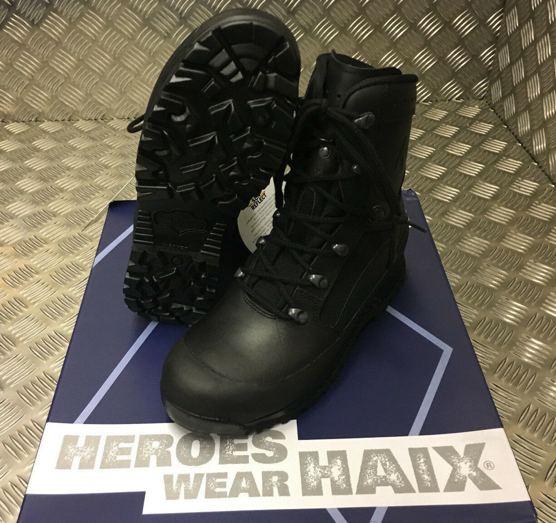 ORIGINAL BRITISCHE ARMEE Haix Goretex Stiefel Leder Kampf Assault Schwarz Stiefel Goretex - NEU 5560da