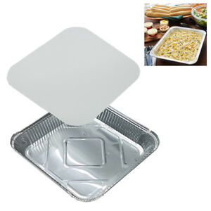 """9"""" x 9"""" NO9 LARGE ALUMINIUM FOIL FOOD CONTAINERS WITH LIDS OVEN BAKING TAKE AWAY"""