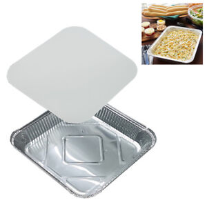 9-034-x-9-034-NO9-LARGE-ALUMINIUM-FOIL-FOOD-CONTAINERS-WITH-LIDS-OVEN-BAKING-TAKE-AWAY