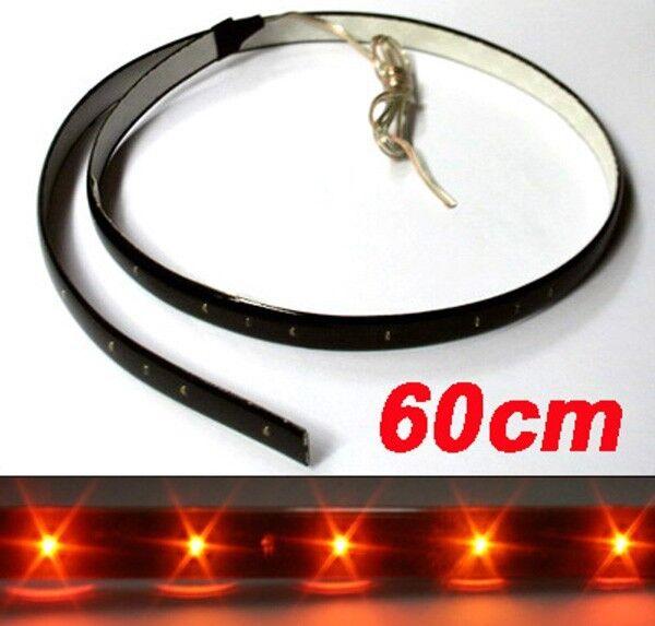 2x Orange 30er SMD 3528 LED Auto Stripe Leiste Streif 12V DC Gelb