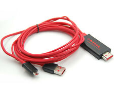 2M Micro MHL To HDMI HDTV Adapter Cable For Galaxy Note i9220 GT-N7000 S2 i9100