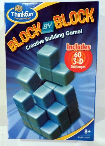 ThinkFun #5931 Block By Block Puzzle Kids Game Fun Challenging Brain Teaser