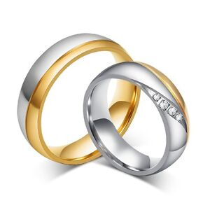 Women-Man-CZ-Crystal-Wedding-Ring-Gold-Plated-Stainless-Steel-Promise-Jewelry