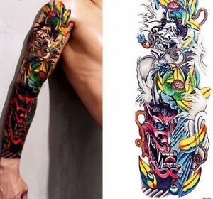 Red Dragon Twins Arm Temporary Tattoo Stickers Body Art 3d Tatoo - Tattoo-gemelos