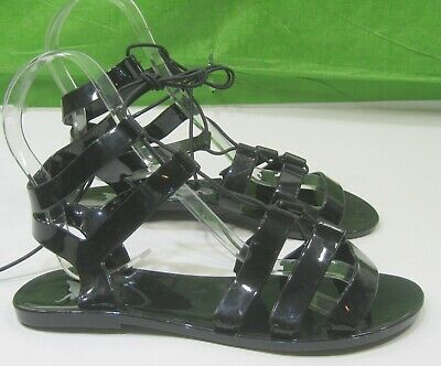 Womens Summer Beach Jelly Sandals Cut Out Flats Closed Toe Shoes Jellies Size