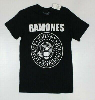 Ramones Herren Distressed Seal T-Shirt X-Large Schwarz