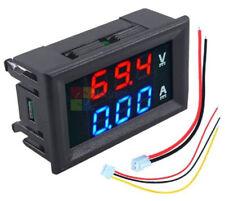 Dc 100v10a Voltmeter Ammeter Blue Amp Red Led Amp Dual Digital Volt Meter Gauge Db