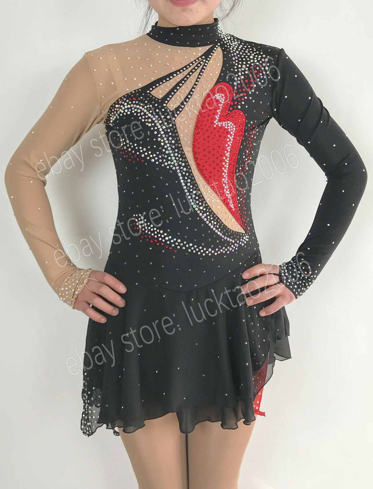 New style Figure skating Ice Skating  Dress Gymnastics Baton Twirling Dress S8984  ultra-low prices