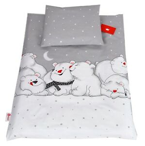 BABY BEDDING SET PILLOWCASE /& DUVET COVER 2PC COT BED COT CRIB