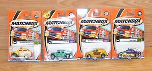 Lot of 4 Genuine Matchbox Numbered Weekend Cruisers & Cool Rides Collection *NEW