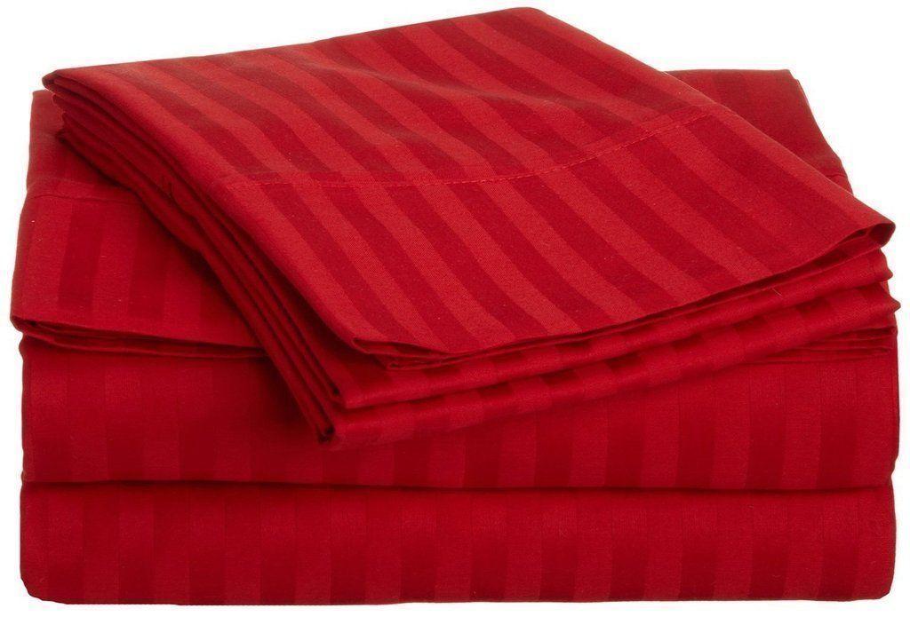 All Bedding Sets Item Choose Größe & Item rot Stripe 1000 TC Pure Egypt Cotton