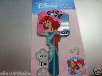 Ariel & Friends Key Kwikset KW1 House Key Blank / Authentic Disney House Keys