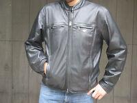 Harley Davidson Leather Motorcycle Jacket XL Vented Embossed Logo Vtg Racing