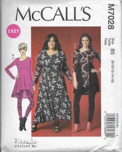 7eaab843fb6 McCall's Sewing Pattern M7028 Misses' TUNICS, DRESS & LEGGINGS sz 8 ...