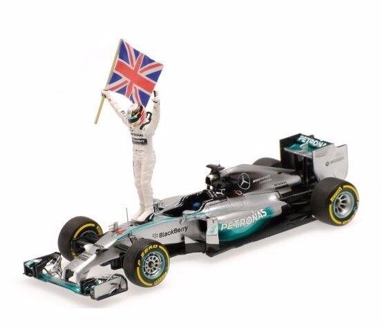 Minichamps 1:43 Mercedes F1 Lewis Hamilton + Figure Abu Dhabi GP 2014 410140644