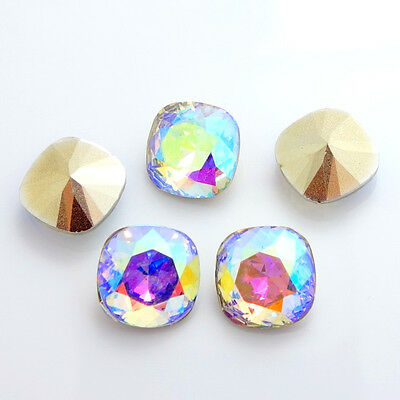 Wholesale 30PCS  Rounded Square Resin rhinestones  CLEAR AB beads 12mm DIY