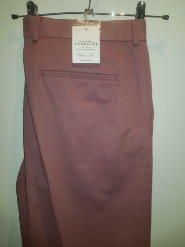 Very smart dusty pink BNWT classic quality chinos by Charles Tyrwhitt W40 L32