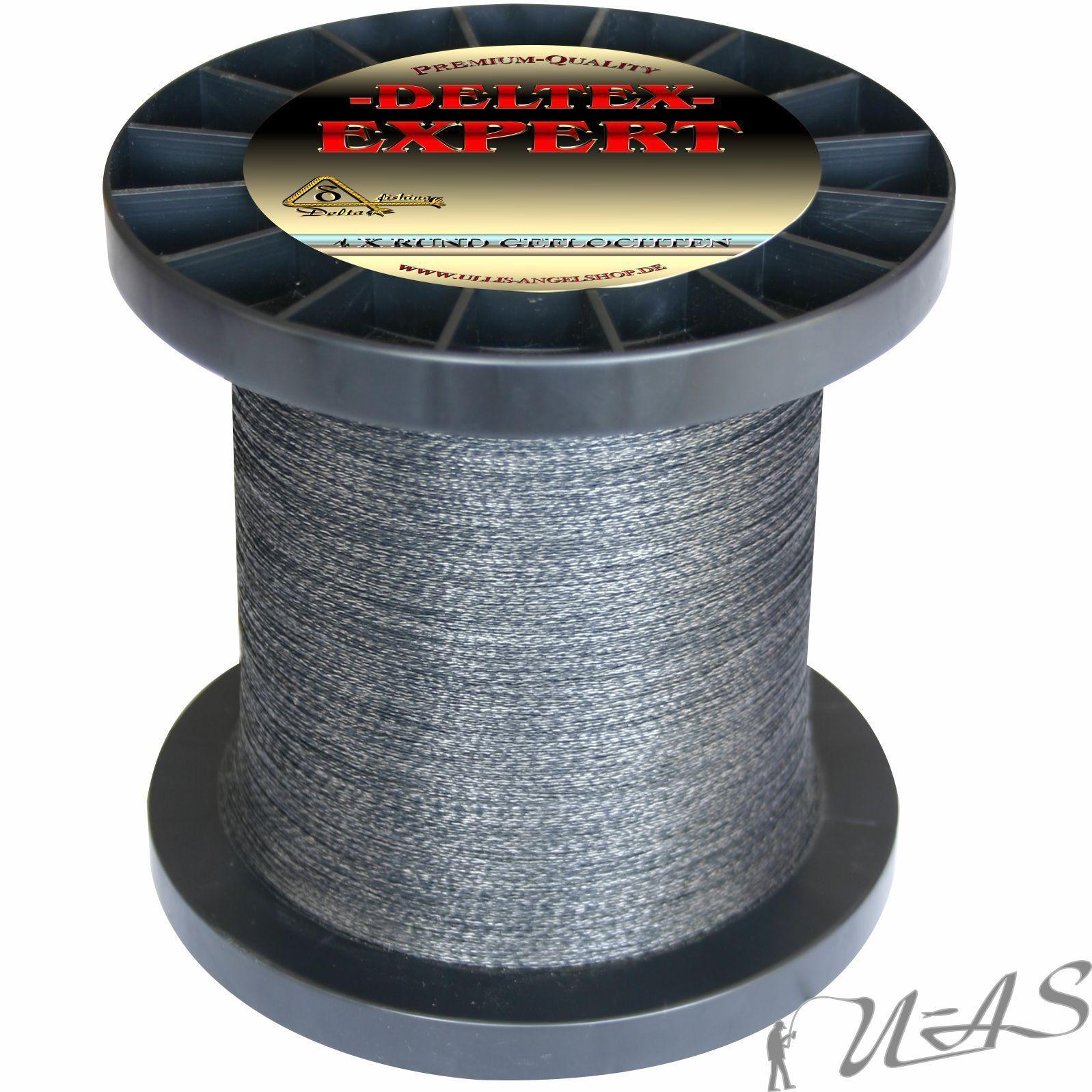 Deltex Expert Rund Geflochtene Dyneema Angel Schnur 0,48mm 1000M Grau Sha    Preisreduktion