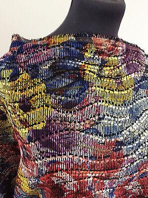 Shimmering Marbled Floral/Flower Woven Jacquard Furnishing/Dressmaking Fabric