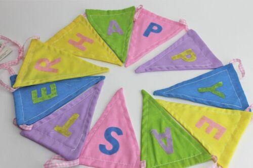 "Gisela graham pâques tissu /""joyeuses pâques/"" bunting garland"