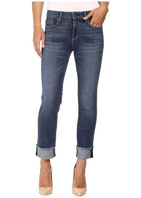 $ Nuovo Da Donna Parker Smith Con Risvolto Dritto In Benzina Jeans Blu Sz 12 =3 E Avere Una Lunga Vita