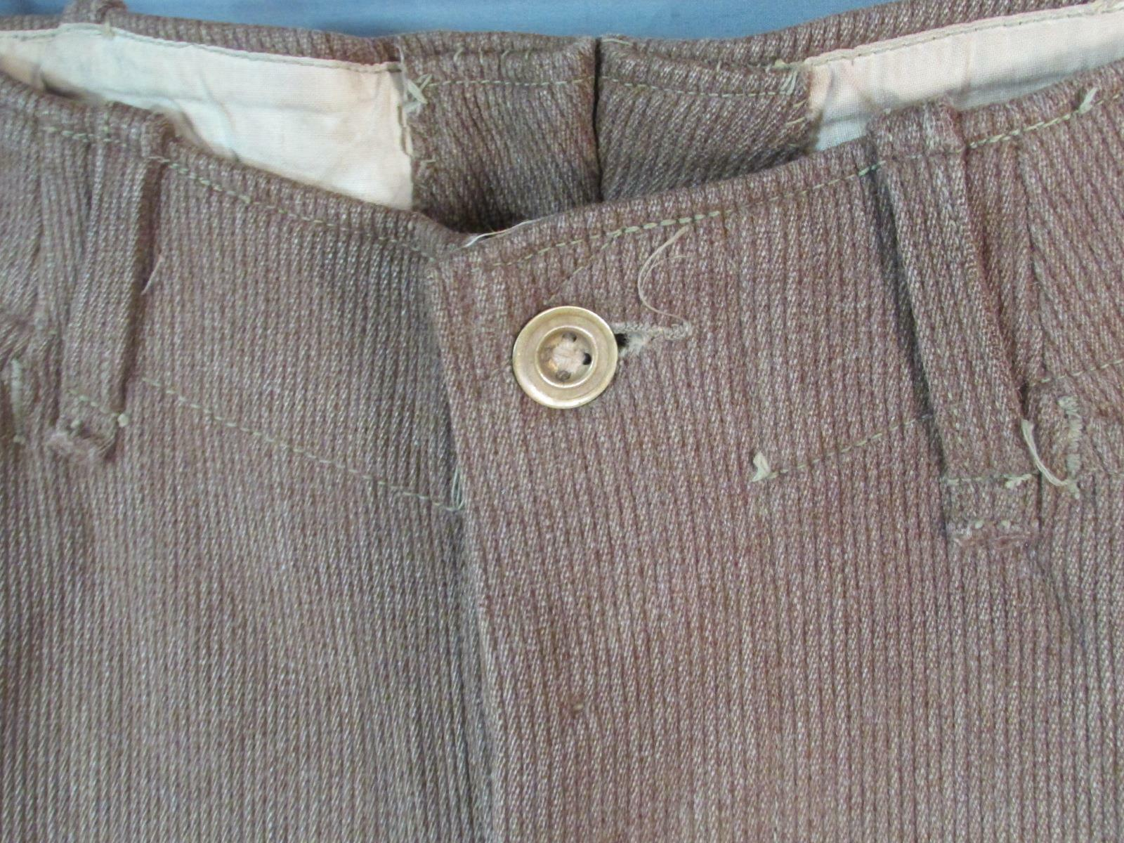 Vintage 1910s Wool Whipcord Riding Pants WWI Mili… - image 3
