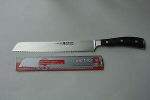 NEW-WUSTHOF-CLASSIC-IKON-9-034-DOUBLE-SERRATED-BREAD-NSF-KNIFE-model-4163-23cm