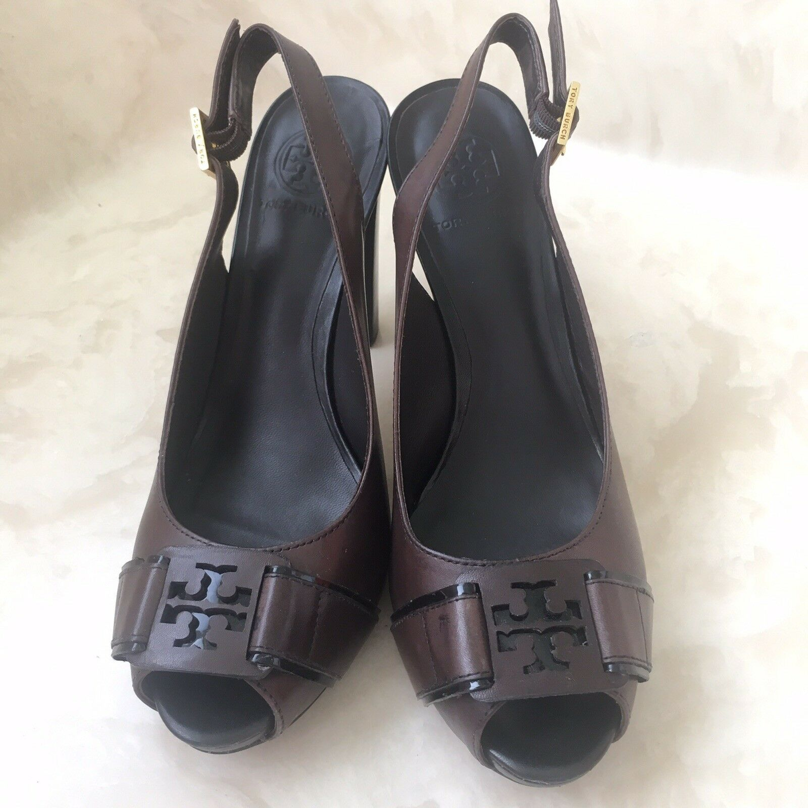 vendite online Tory Tory Tory Burch Marrone leather heels  centro commerciale online integrato professionale