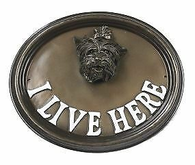 Wand Or House Sign Yorkshire Terrier  I Live Here