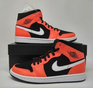 Details about Nike Air Jordan Retro I 1 Mid Infrared 23 Black White Basketball Shoe 554724 061
