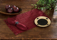 Placemat - Tweed In Wine By Park Designs - Kitchen Dining Burgundy
