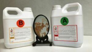 4kg Epoxy Resin Crystal Low Viscosity Penny Art River Table UV Resist B10