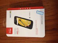 Verizon Wireless Prepaid - Motorola Moto E 4g 8gb Memory W/ Grip Shell Case