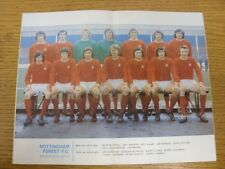 1971/1972 Football League Review: Vol 6 No 32 - Colour Picture - Nottingham Fore