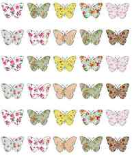 30 x Vintage Butterflies Cupcake Toppers Edible Wafer Paper Fairy Cake Toppers